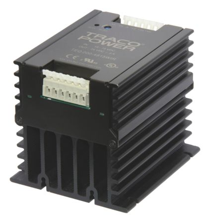 TRACOPOWER TEQ 200WIR 216W Isolated DC-DC Converter Chassis Mount, Voltage in 18 → 75 V dc, Voltage out 24V dc