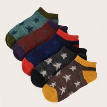 5 pares calcetines de hombres con patron de estrella