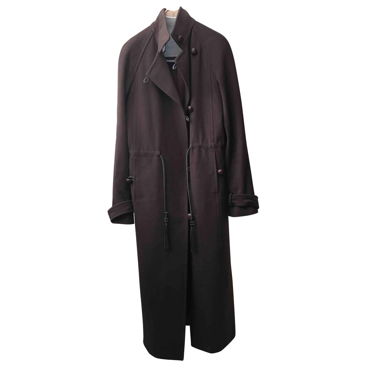Yves Saint Laurent \N Brown Wool coat for Women 38 FR