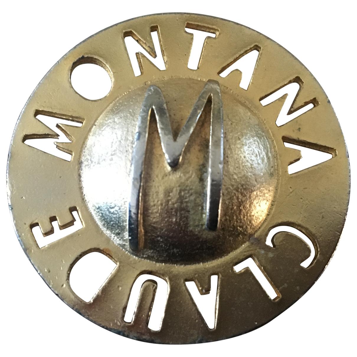 Broche en Metal Dorado Claude Montana