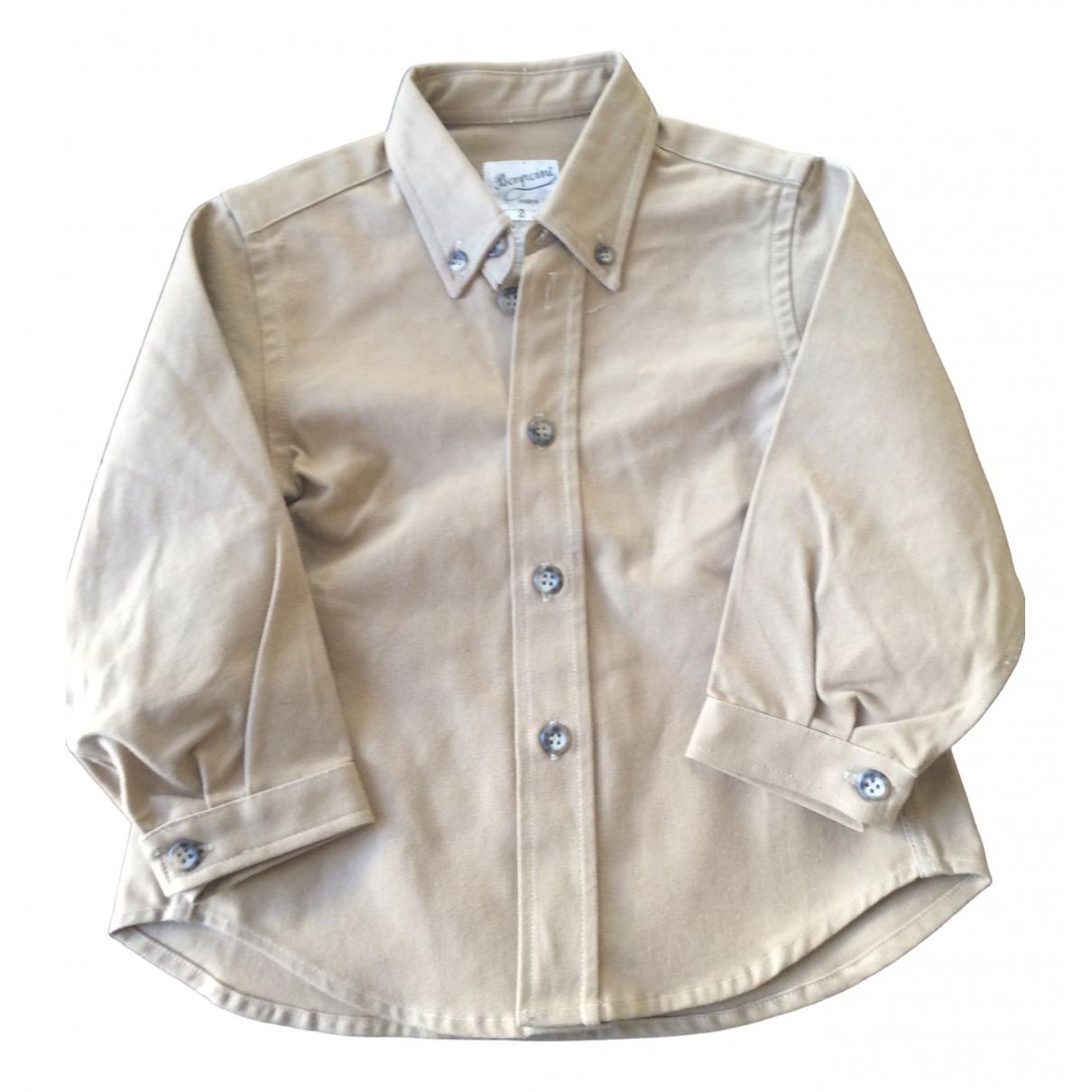 Bonpoint - Top   pour enfant en coton - beige