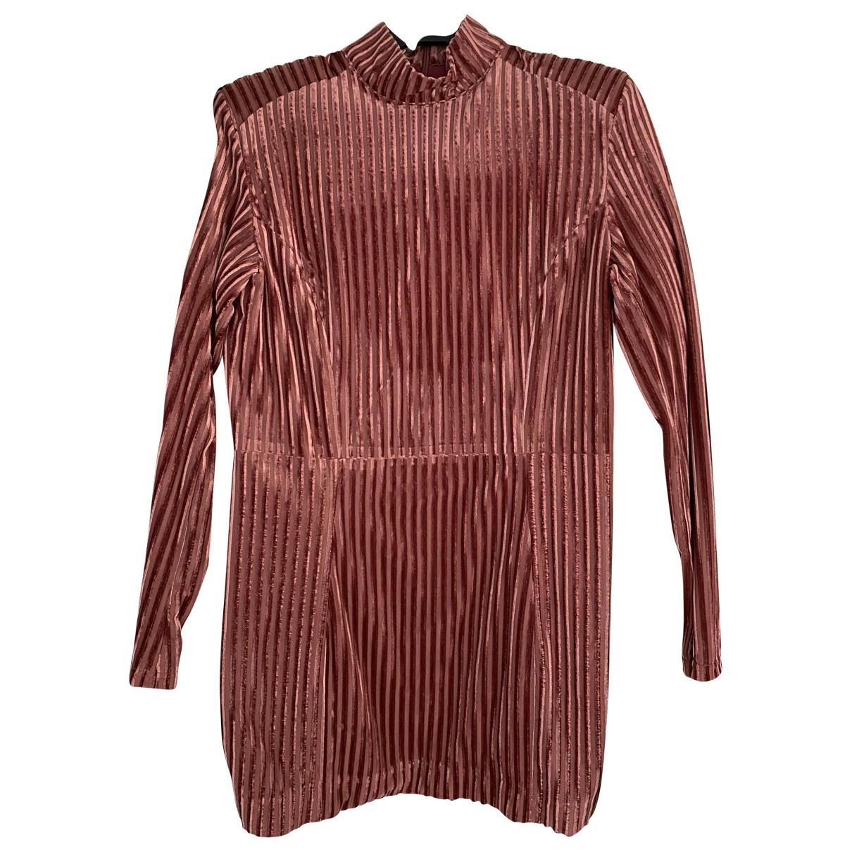 House Of Cb N Pink Velvet dress for Women 40 FR