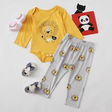 Baby Boy Cartoon Graphic Bodysuit & Pants