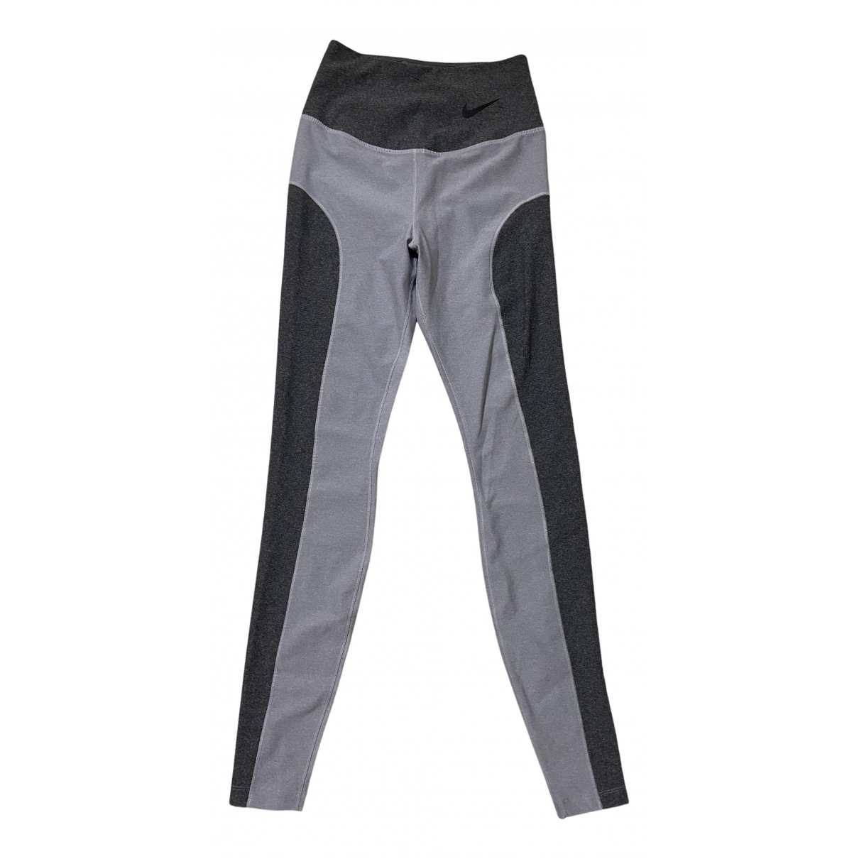 Nike N Grey Trousers for Women XS International