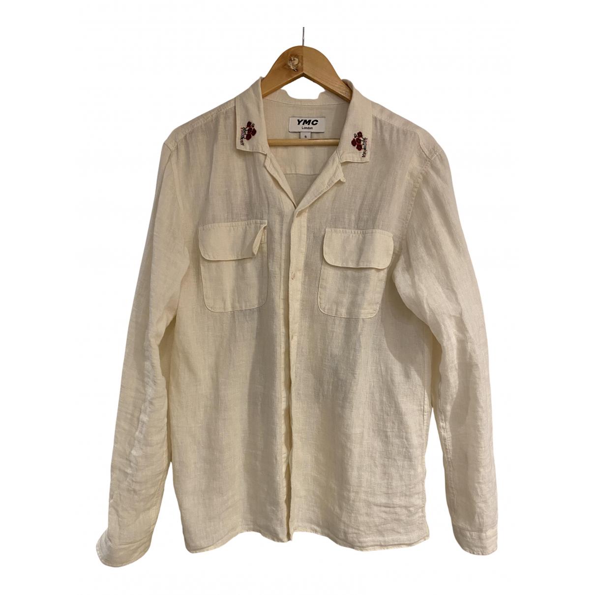 Ymc - Chemises   pour homme en lin - beige