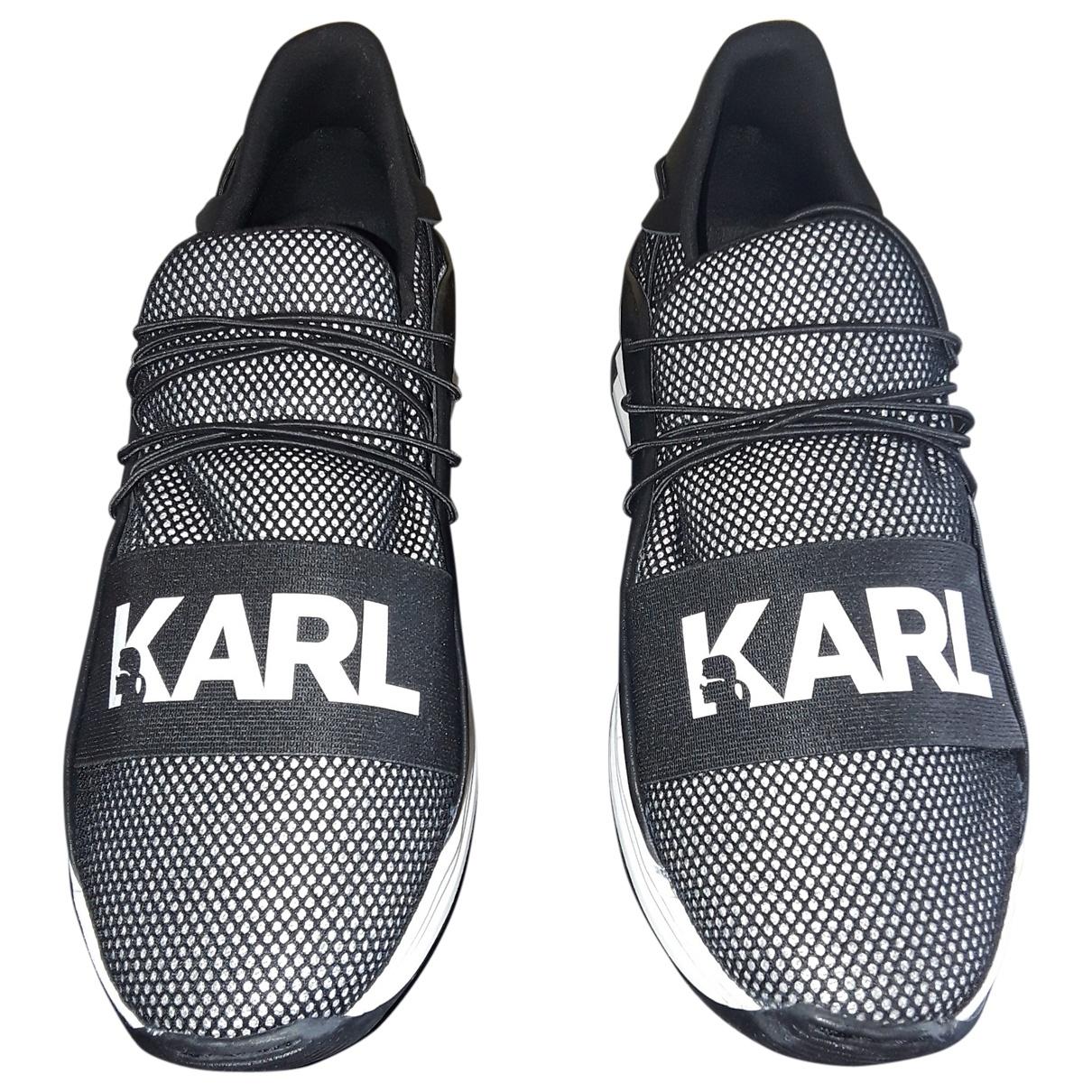 Karl \N Black Cloth Trainers for Men 39 EU