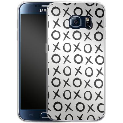 Samsung Galaxy S6 Silikon Handyhuelle - Love XO White von Amy Sia