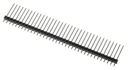 RS PRO , 36 Way, 1 Row, Straight Pin Header (10)