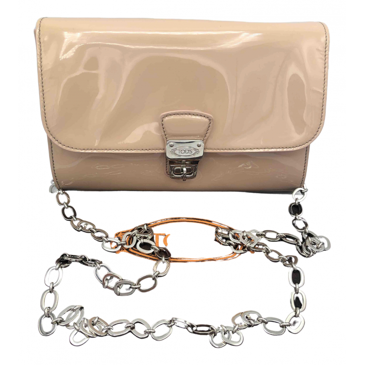 Tod's \N Beige Patent leather Clutch bag for Women \N