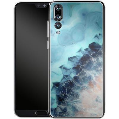 Huawei P20 Pro Silikon Handyhuelle - Ocean Agate von Emanuela Carratoni