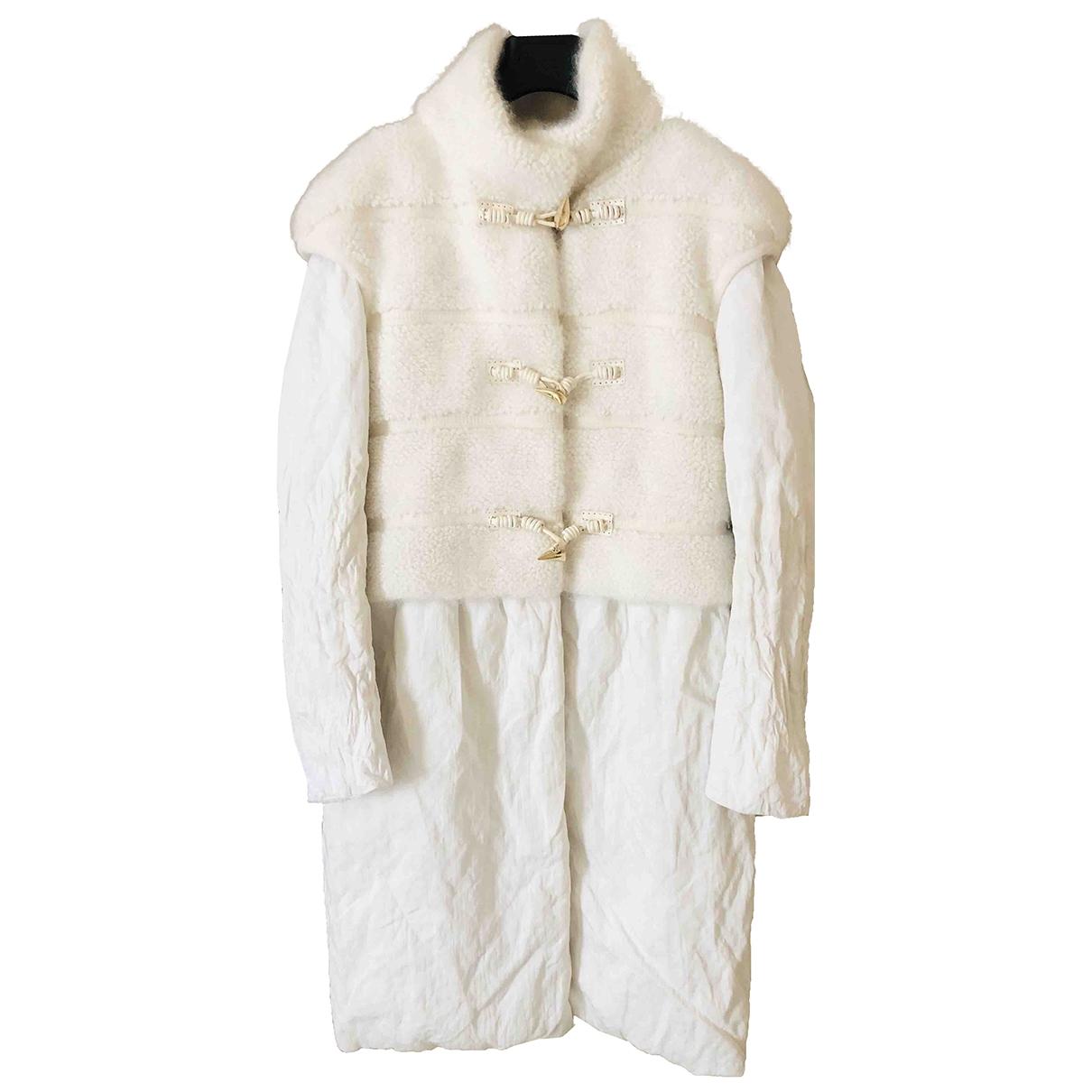 Ermanno Scervino - Manteau   pour femme - blanc