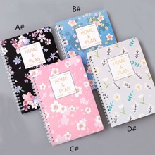 Cuaderno de espiral 1pack Flower Print Cover