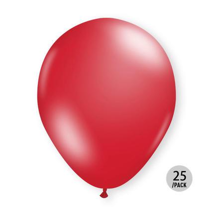 Red Metallic Balloons Helium Quality 12