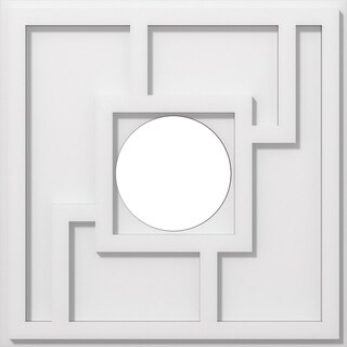 Knox Architectural Grade PVC Contemporary Ceiling Medallion (18