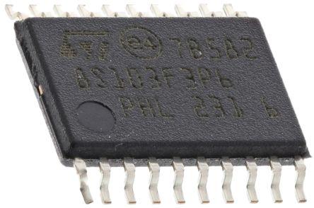 STMicroelectronics STM8S103F3P6, 8bit STM8 Microcontroller, STM8S, 16MHz, 640 B, 8 kB Flash, 20-Pin TSSOP (2)