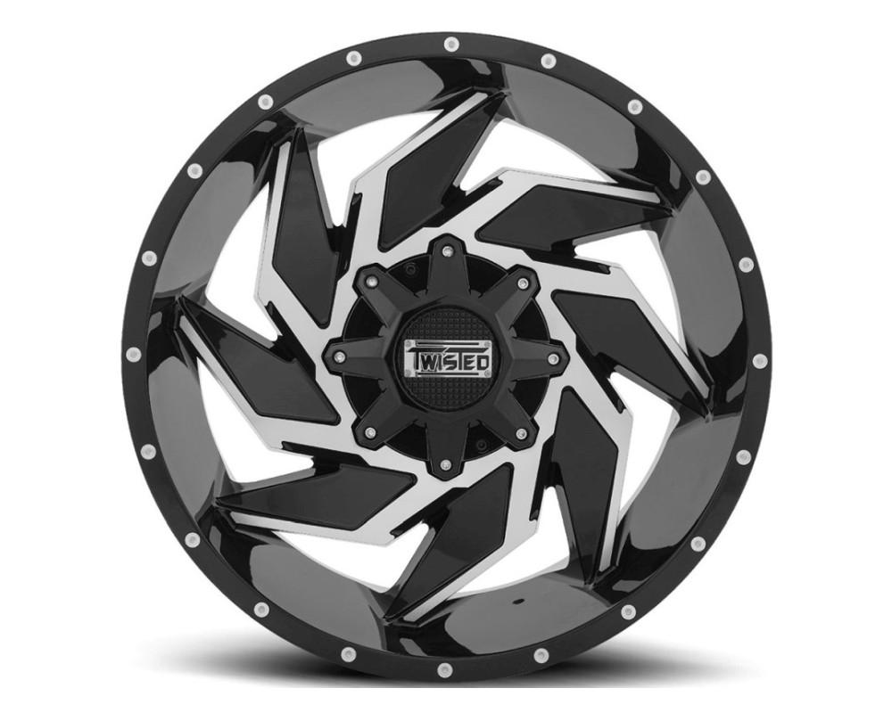 Twisted Off-Road T-24209081651+0GBM T-24 Raptor Wheel 20x9 8x165.1 0mm Black Machined