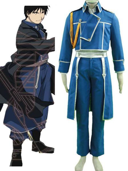 Milanoo Fullmetal Alchemist Roy Mustang Military Halloween Cosplay Costume Halloween