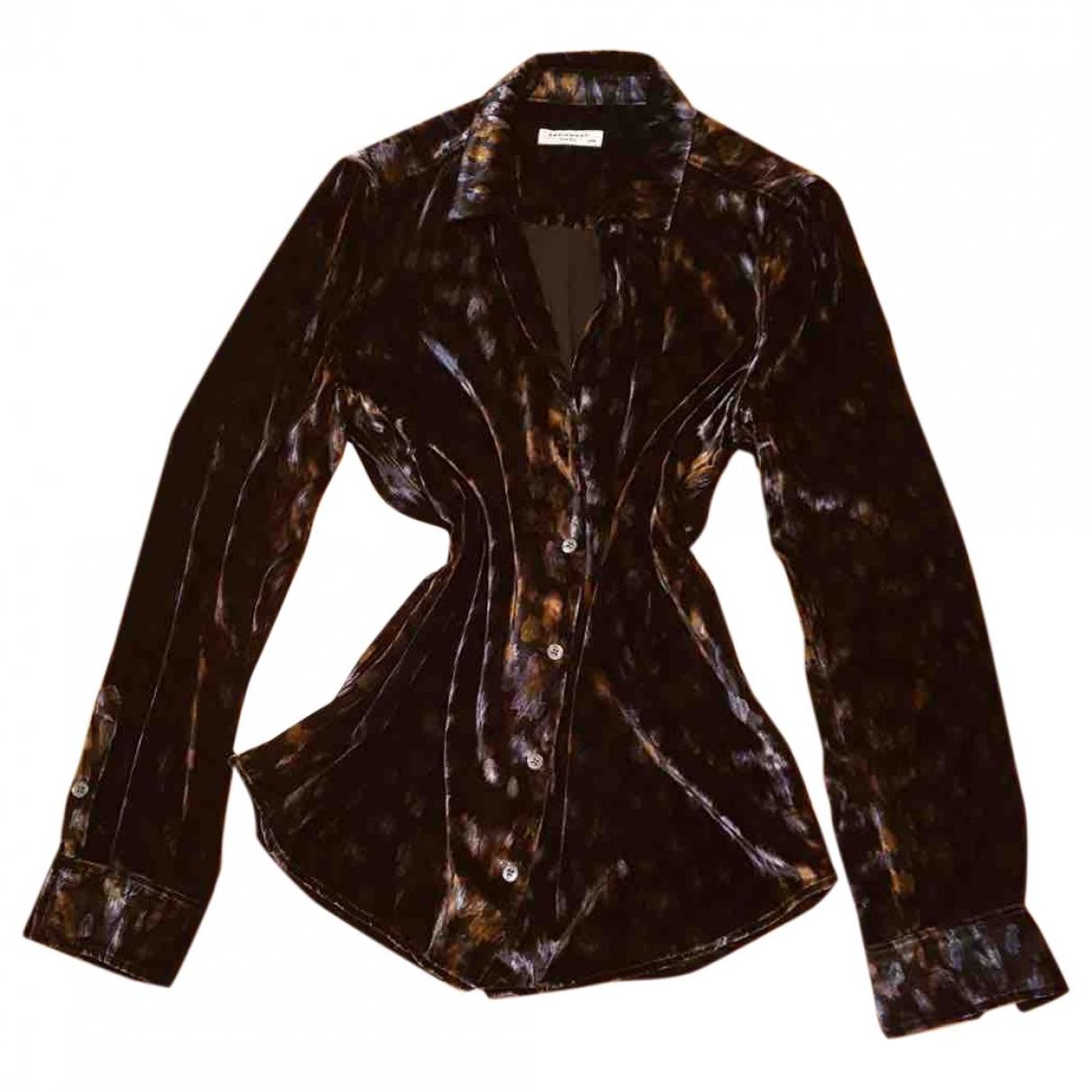 Equipment - Top   pour femme en velours - multicolore
