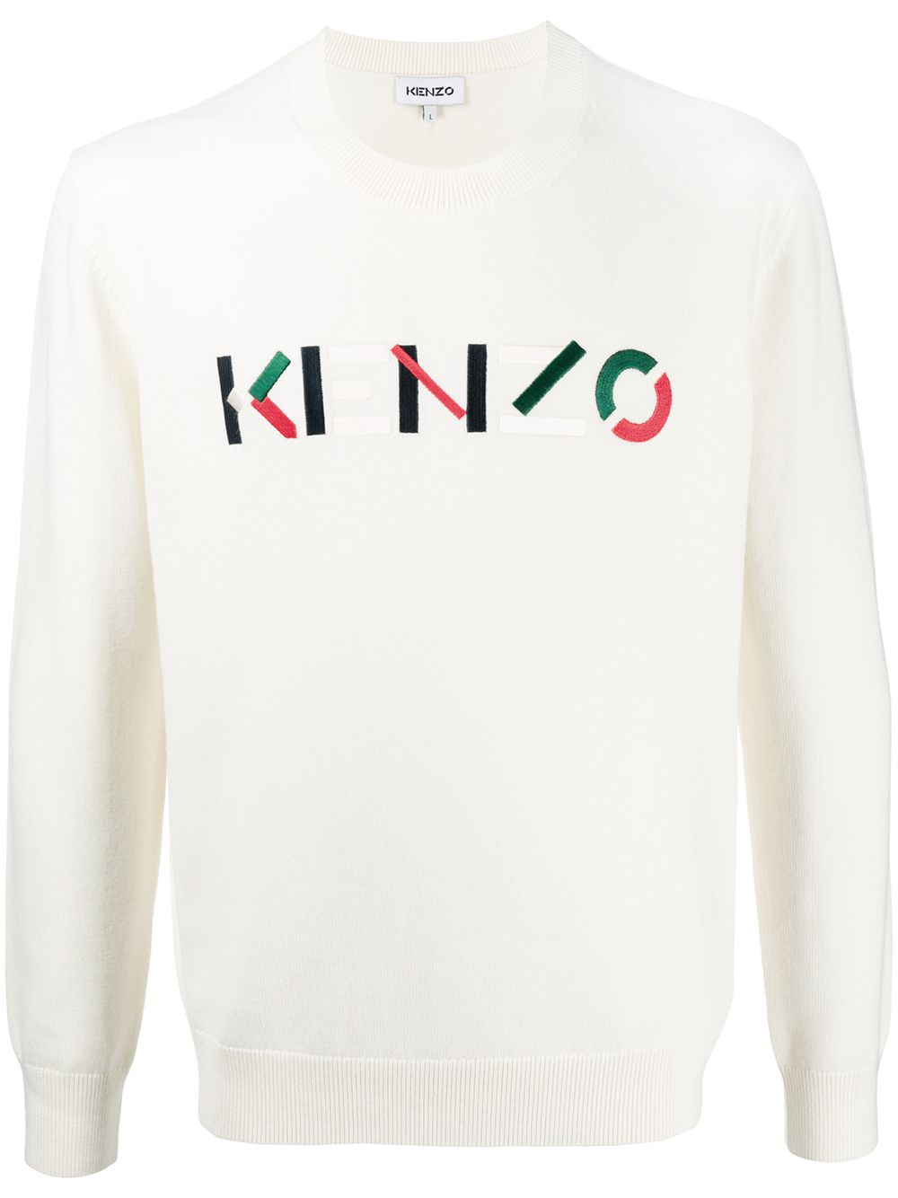 Wool Embroidered Logo Jumper