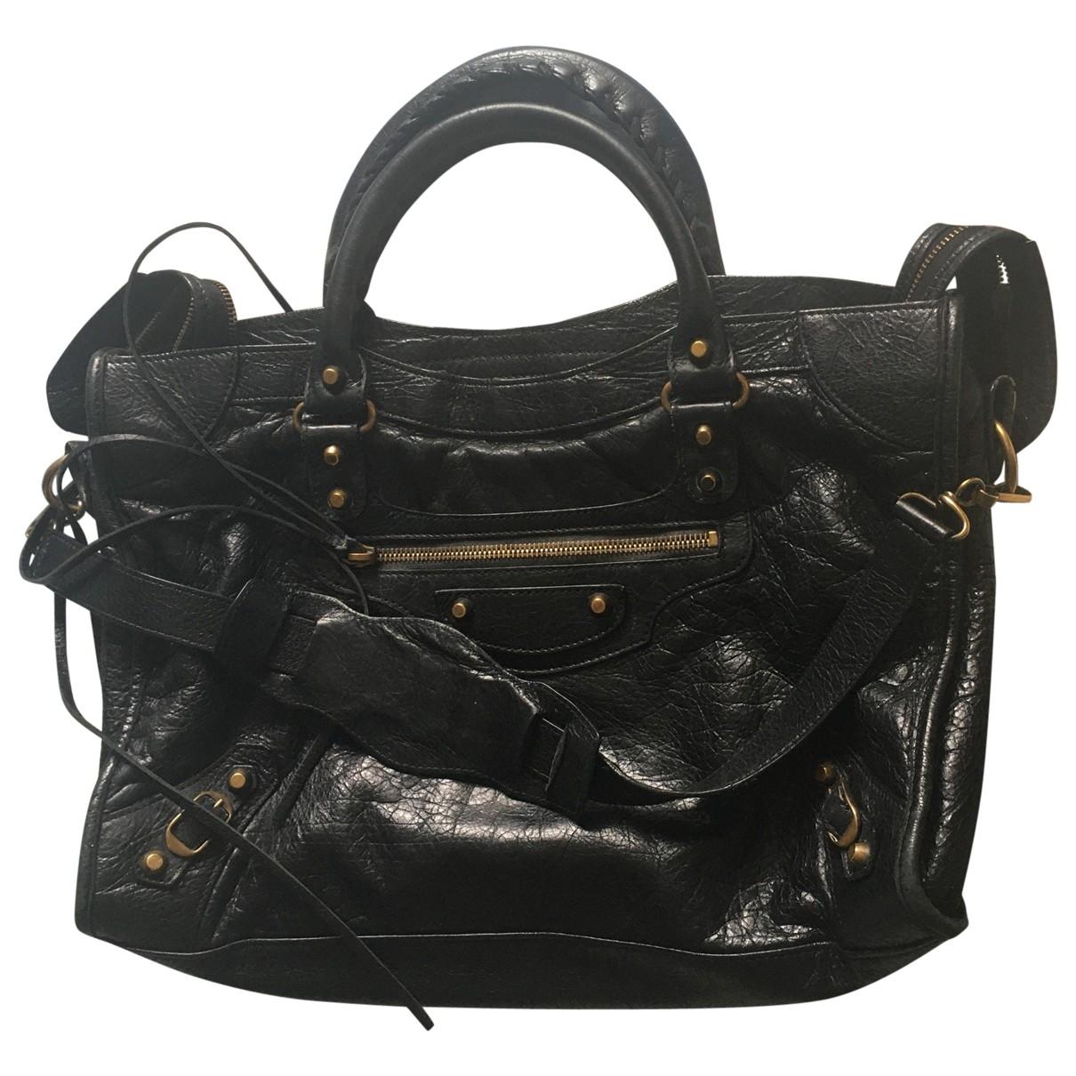 Balenciaga City Handtasche in  Schwarz Leder