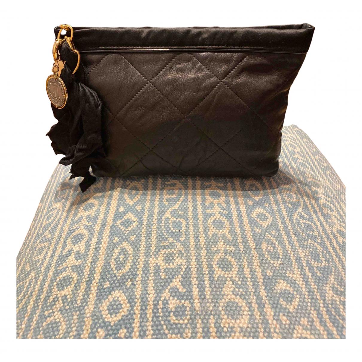 Lanvin Happy Black Leather Clutch bag for Women N
