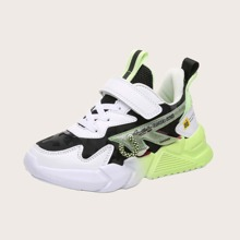 Girls Colorblock Velcro Strap Chunky Sneakers
