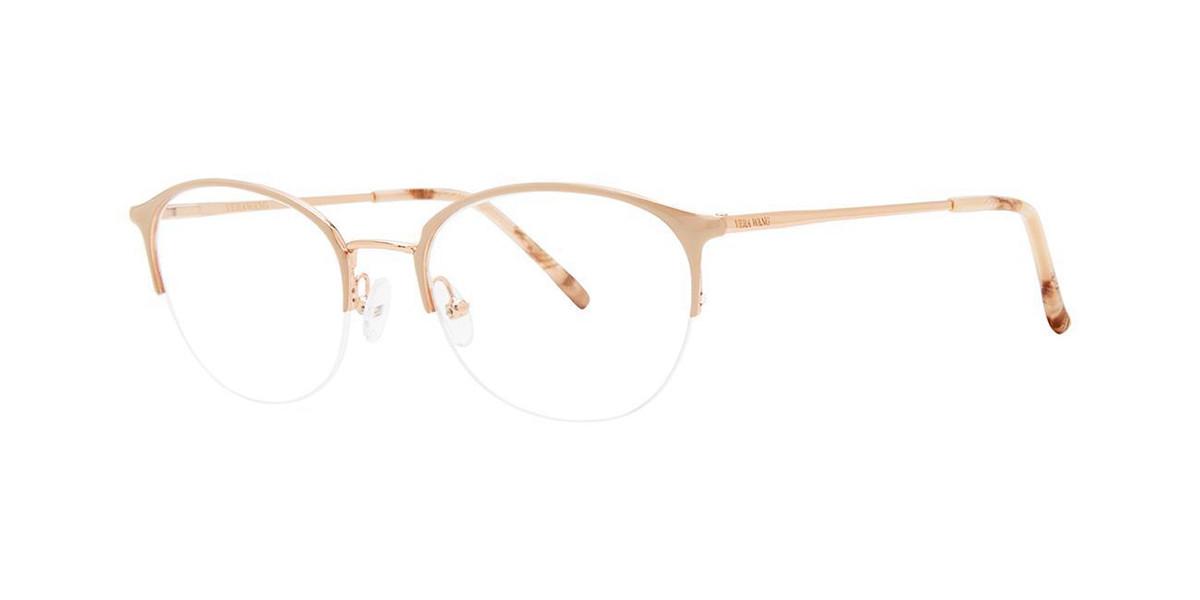 Vera Wang V566 Blush Men's Glasses Gold Size 50 - Free Lenses - HSA/FSA Insurance - Blue Light Block Available