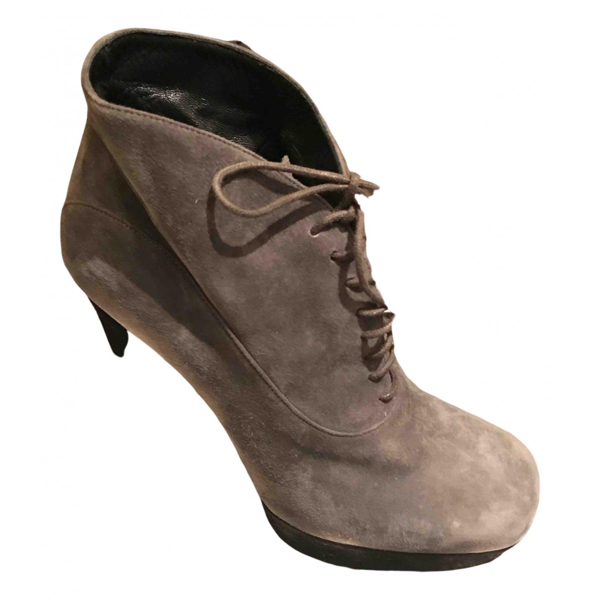 Prada - Escarpins   pour femme en suede - gris