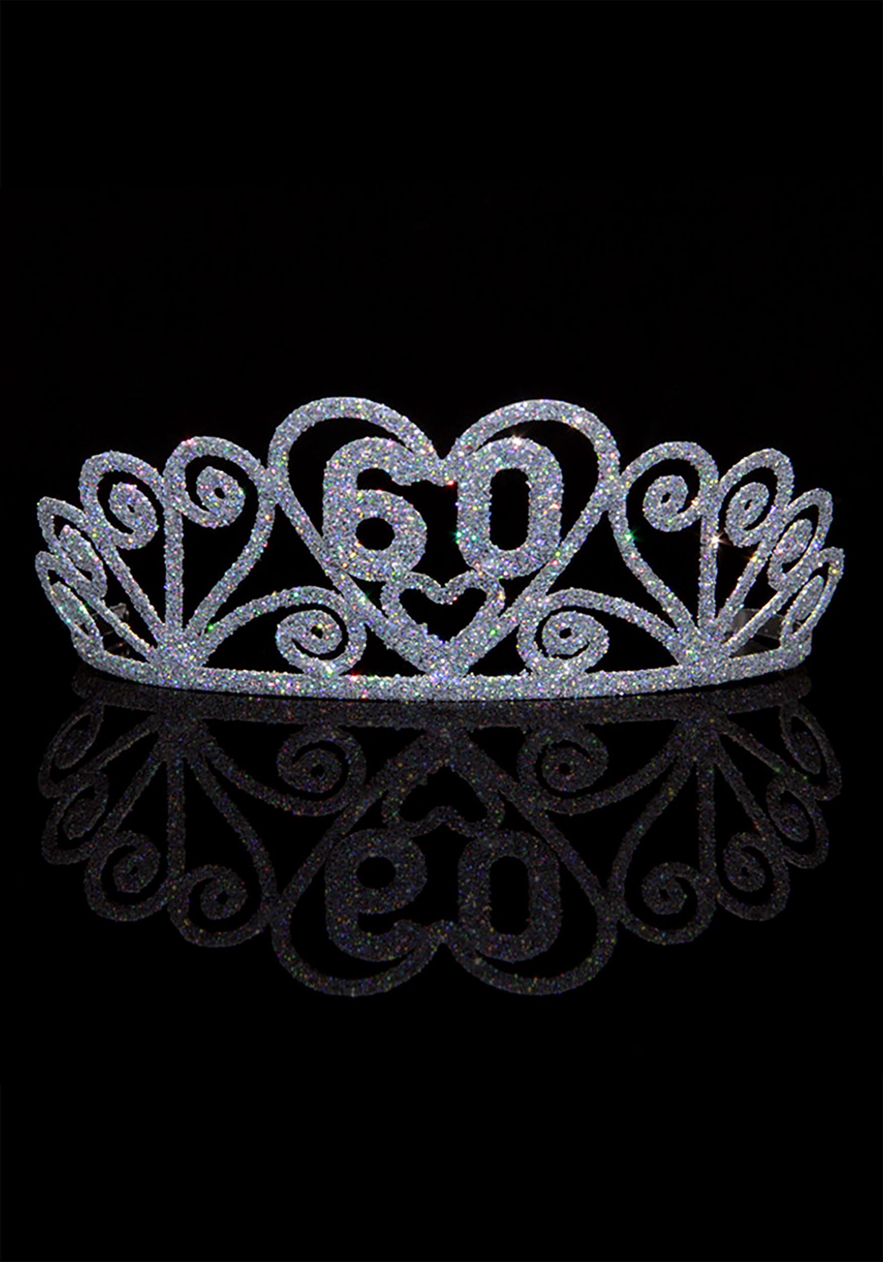 Silver Celebrate 60 Sparkle Tiara