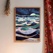 Mountain Print Wall Painting Without Frame