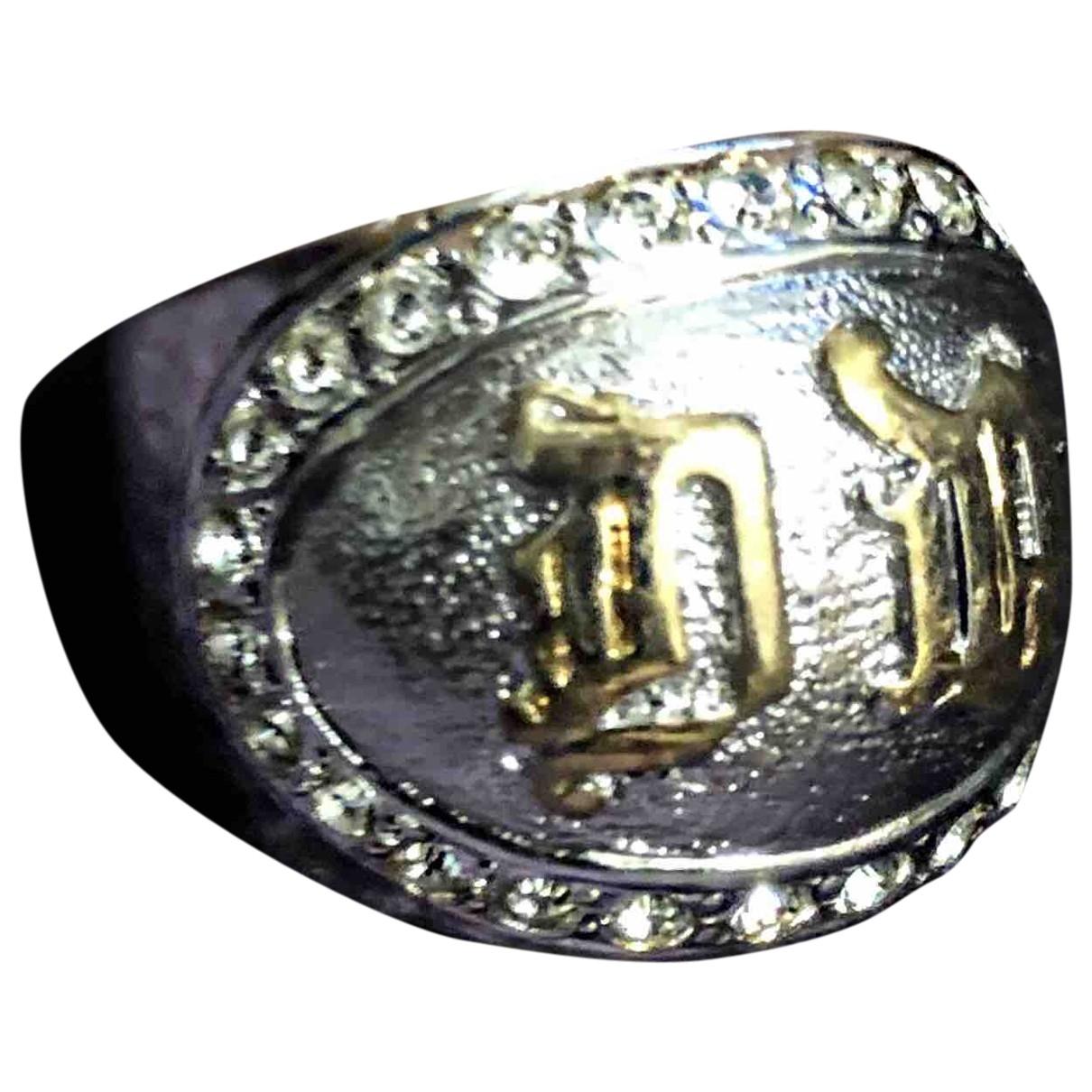 Gianni Versace \N Silver Steel ring for Women \N