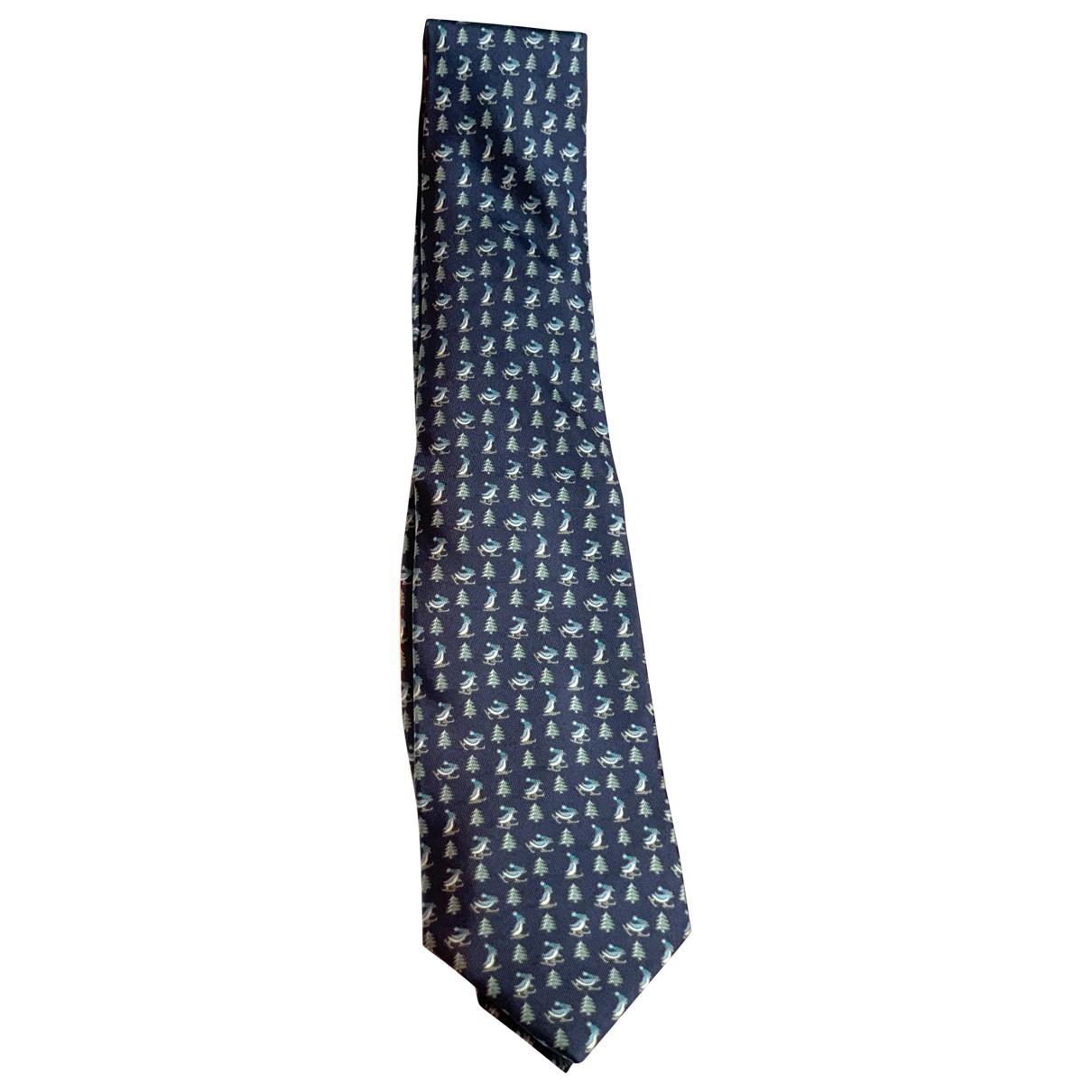 Hermes \N Krawatten in  Blau Seide