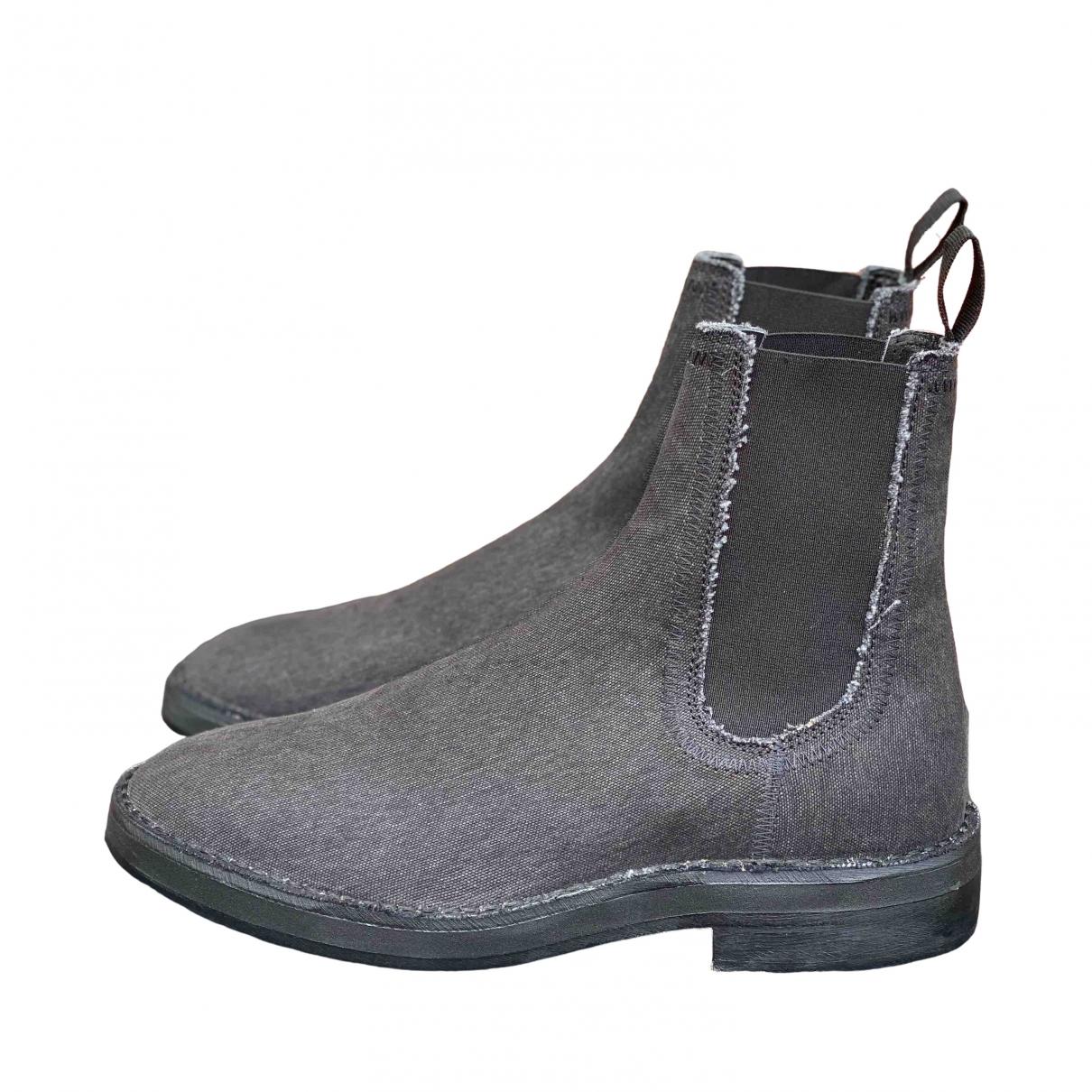 Yeezy \N Stiefel in  Schwarz Leinen