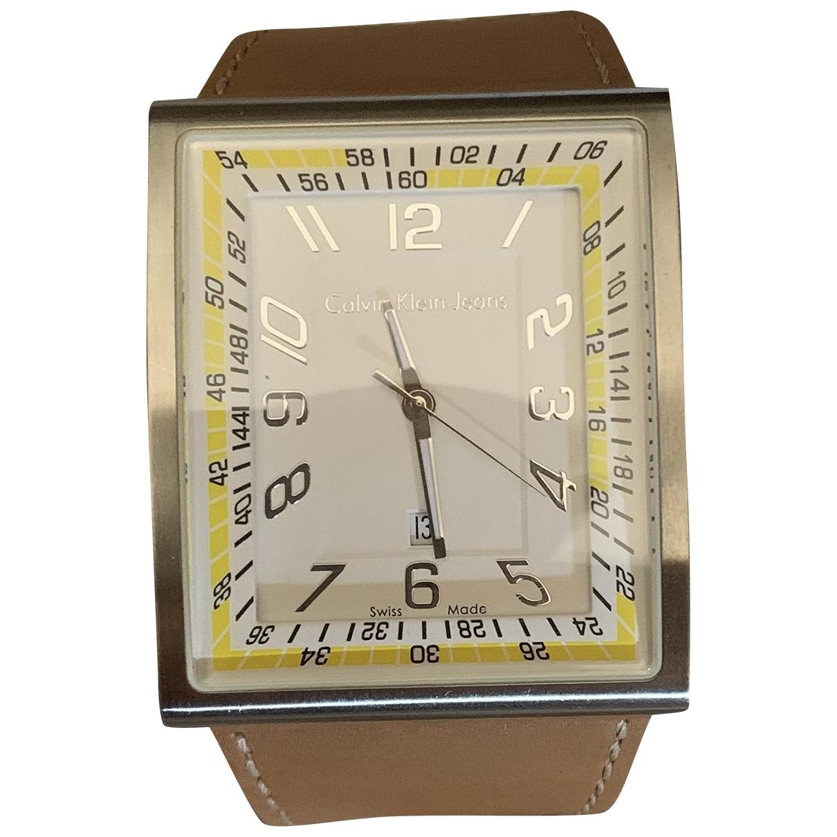 Calvin Klein \N Uhr in  Braun Stahl