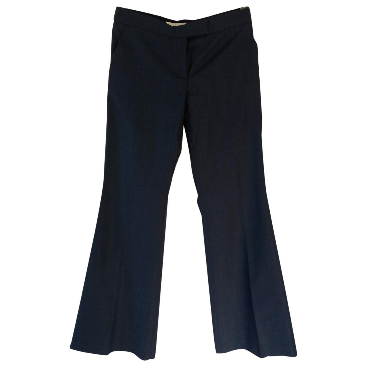 Stella Mccartney \N Blue Wool Trousers for Women 40 IT