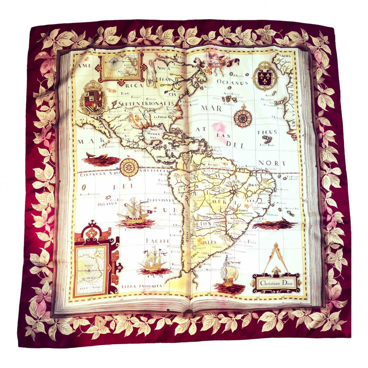 Dior \N Beige Silk scarf for Women \N