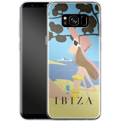 Samsung Galaxy S8 Silikon Handyhuelle - IBIZA TRAVEL POSTER von IRMA