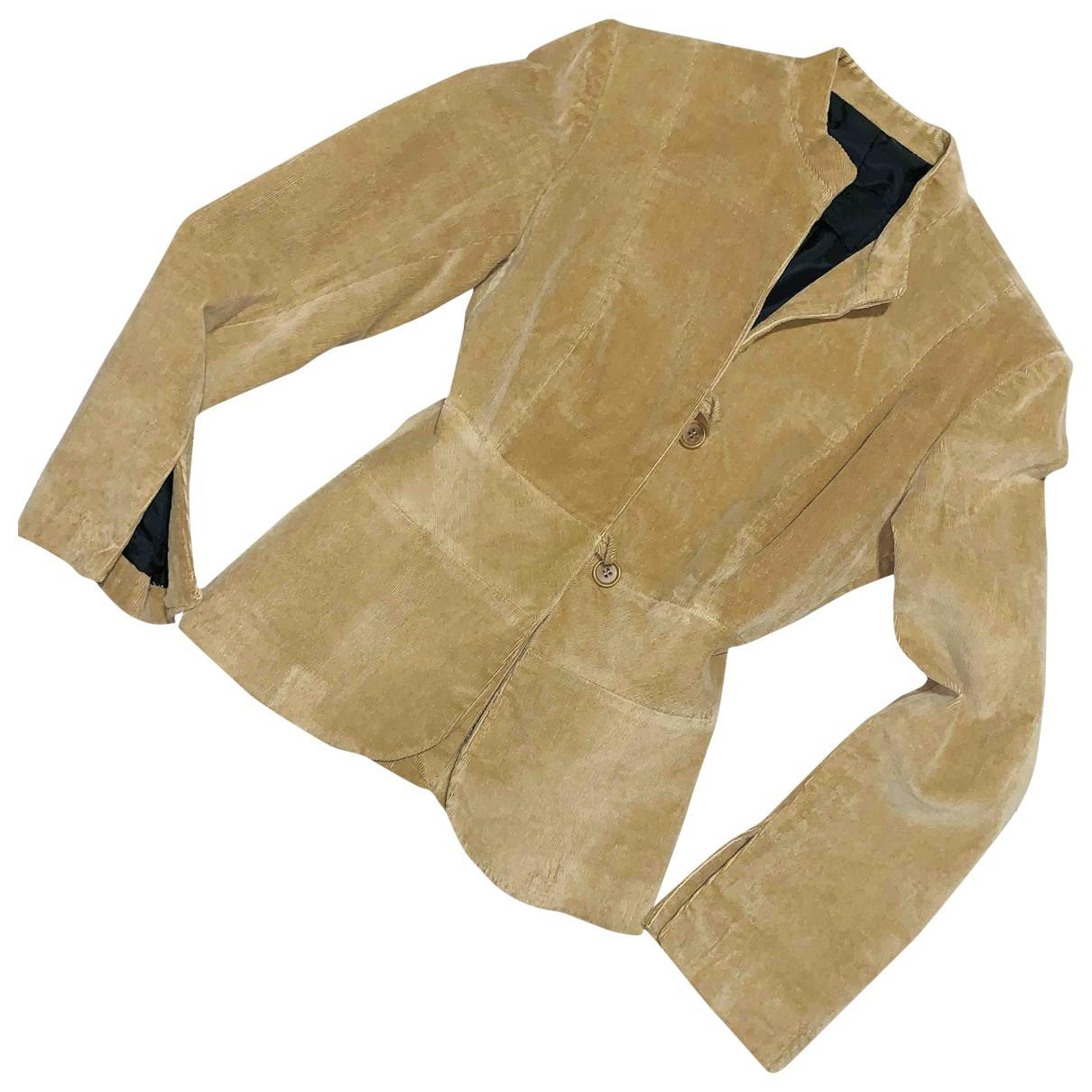 Prada - Veste   pour femme en velours - beige