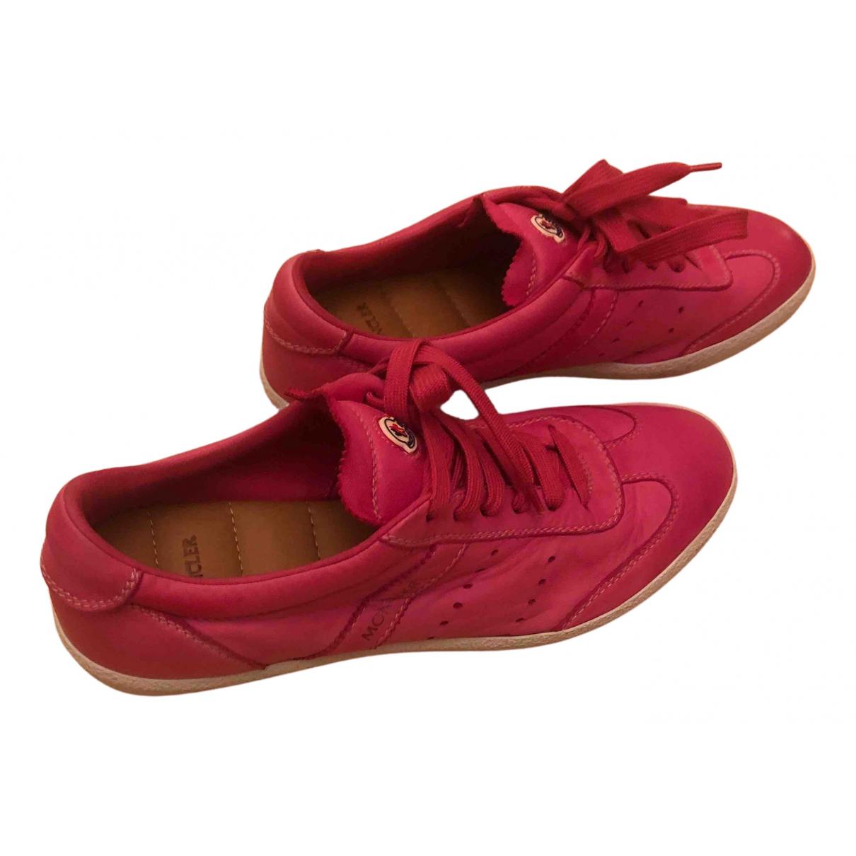 Moncler \N Sneakers in  Rosa Leder
