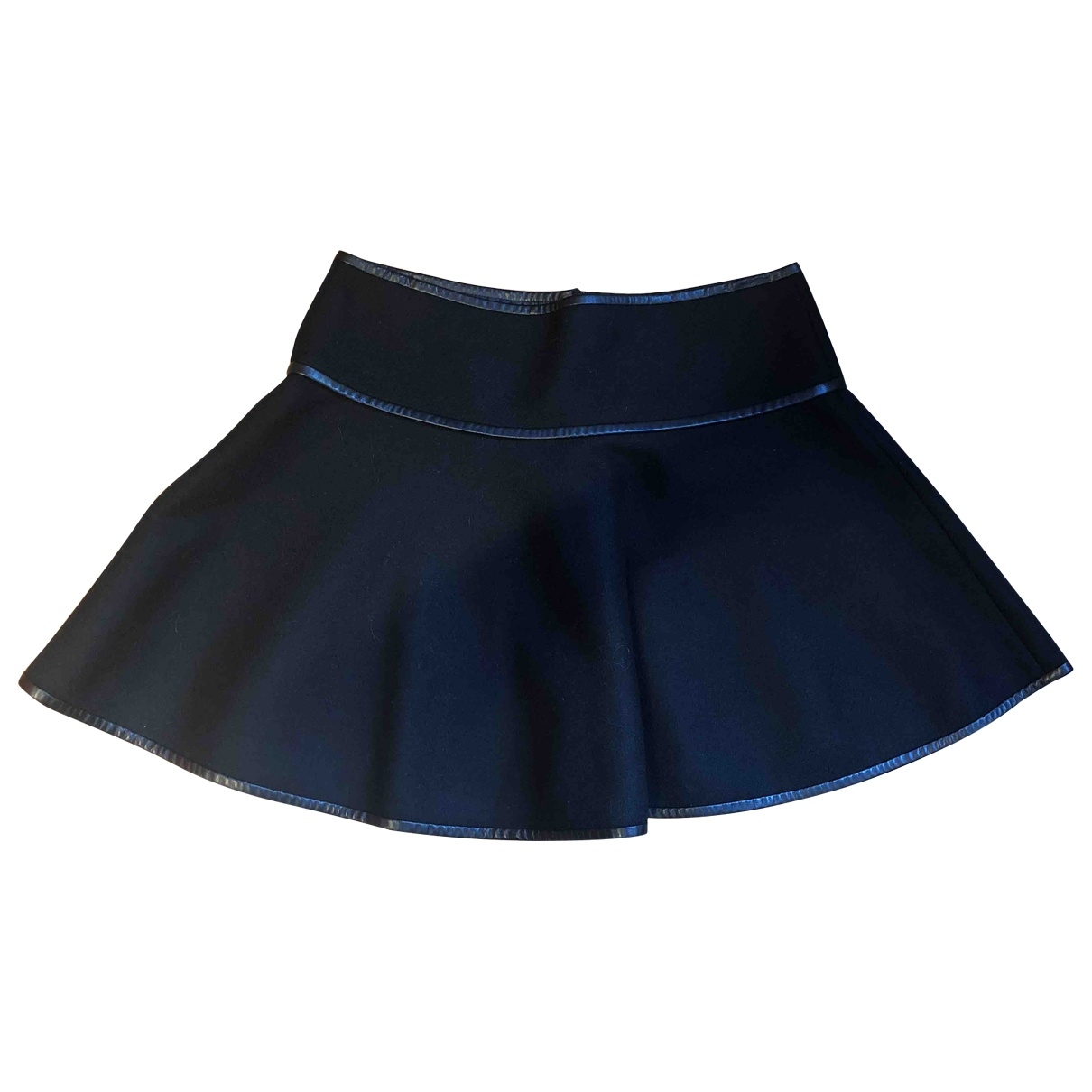 Red Valentino Garavani \N Black Wool skirt for Women 40 IT