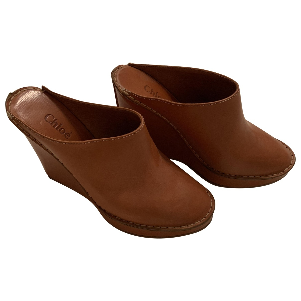 Chloé \N Camel Leather Sandals for Women 38 EU