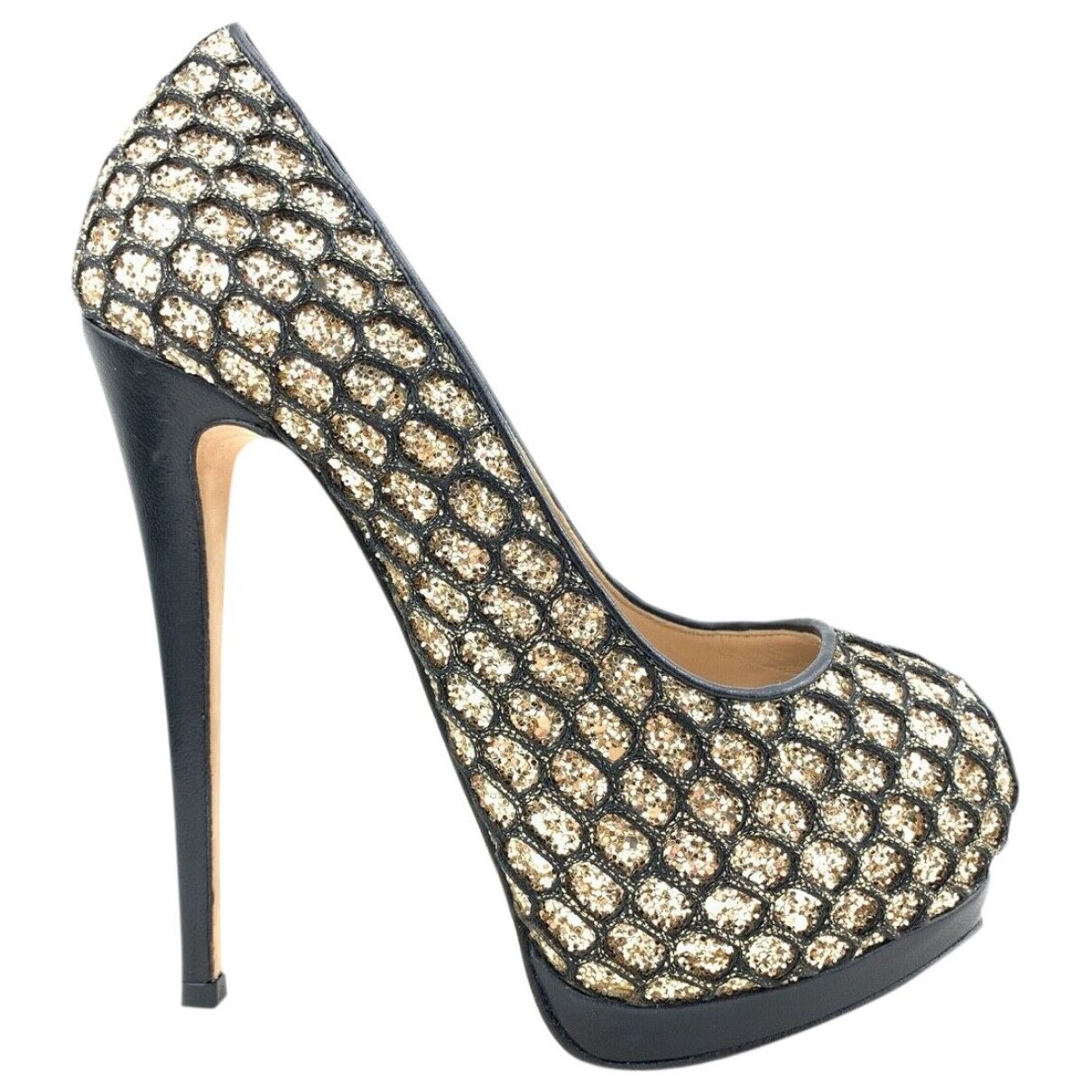 Giuseppe Zanotti \N Gold Leather Heels for Women 36 EU