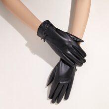Bow Knot Decor Gloves