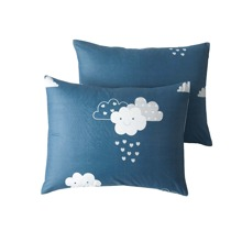 1pair Cloud Print Pillowcase Without Filler