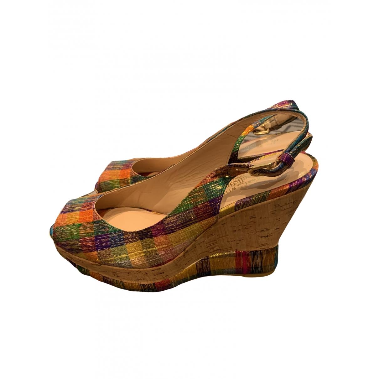 Lk Bennett \N Multicolour Cloth Sandals for Women 7 UK