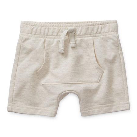 Okie Dokie Baby Boys Pull-On Short, 18 Months , White
