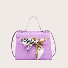 Girls Twilly Scarf Decor Satchel Bag