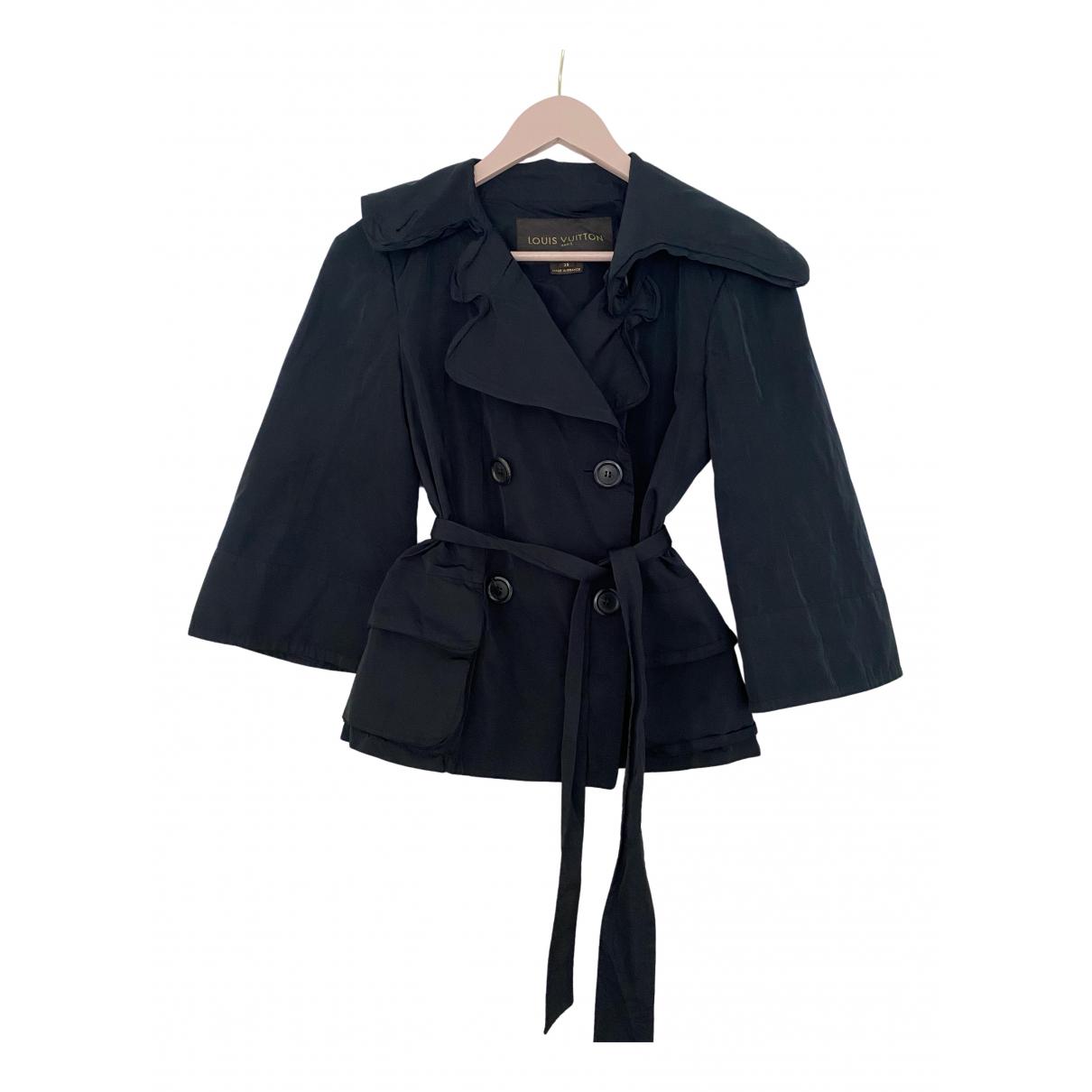 Abrigo en Poliester Negro Louis Vuitton