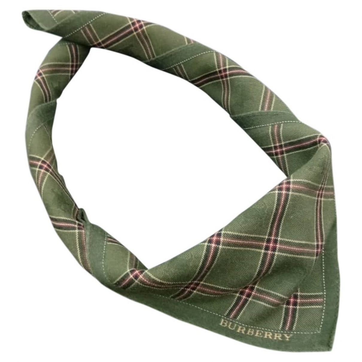 Burberry - Foulard   pour femme en coton - vert