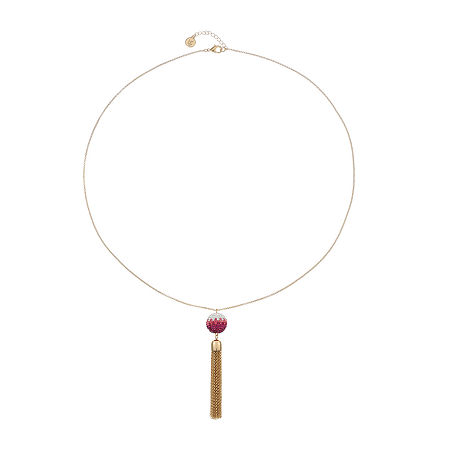 Liz Claiborne 32 Inch Cable Pendant Necklace, One Size , Pink